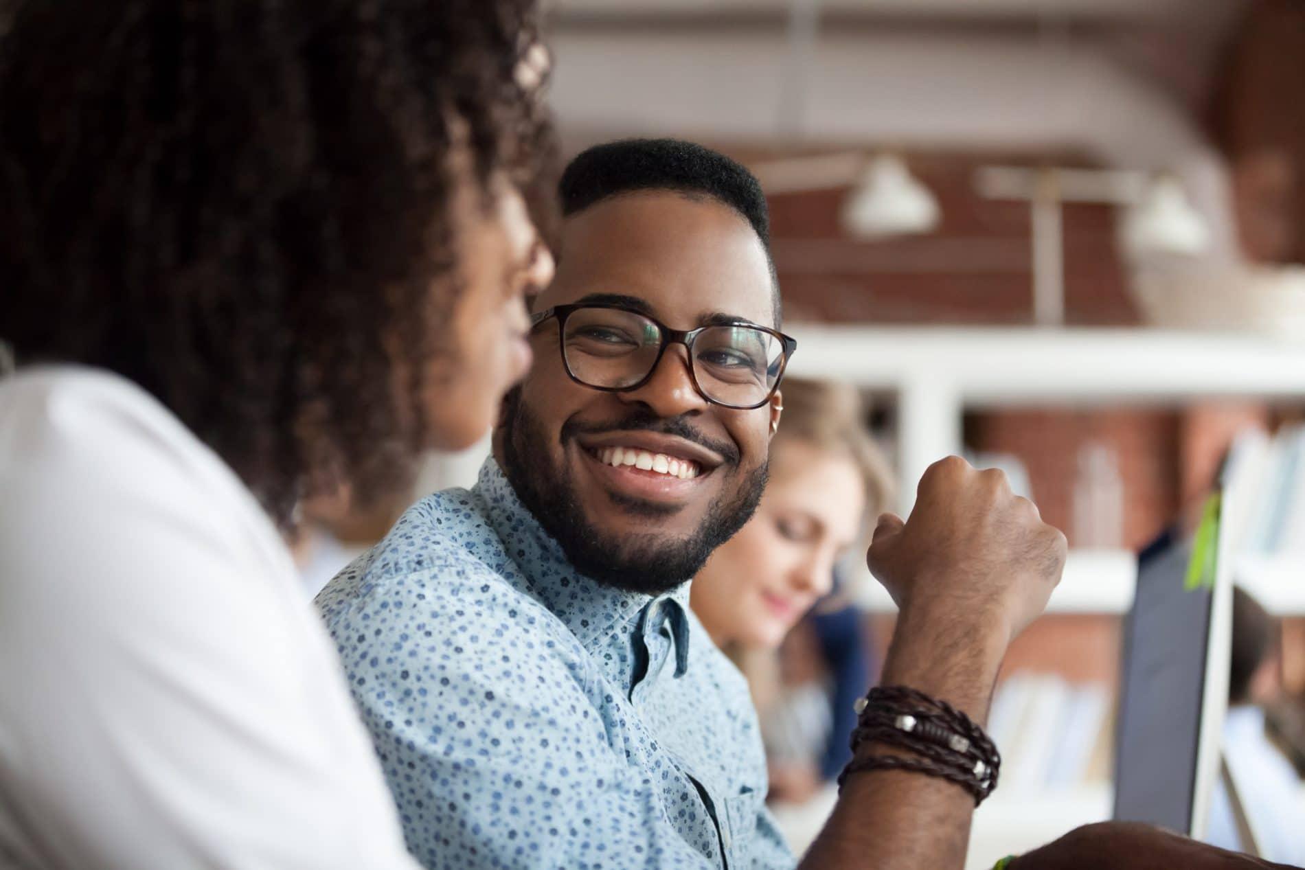 Employee embracing build back better
