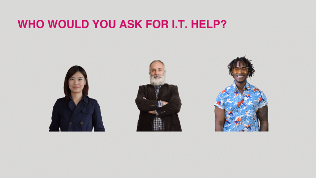 Unconscious bias training exercise - Who would you ask for IT help?
