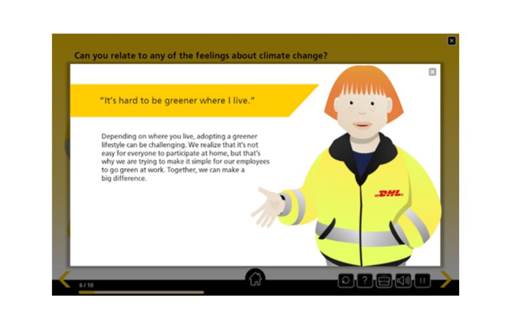 GoGreen digital environmental training module display